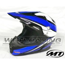 Casco moto Cross Adulto MT Sinchrony MX -AZUL-