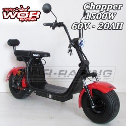 Patinete Chopper 1500w 60v HARLEY + Suspension -LITIO- Motor HUB Citycoco