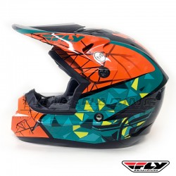 Casco Infantil FLY Kinetic CRUX -Naranja y verde-