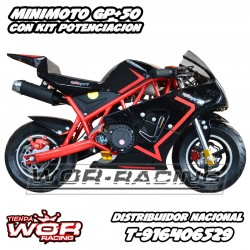 carburador 16 mini moto GP pitsport cobra 50 cc negra mini bike potencia tirador tienda mini bikes