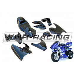 Plastica Kit Minimoto carenada KXD -Colores-
