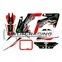 Kit Adhesivos CRF 50 -Monster TROY Racing- Pitbike